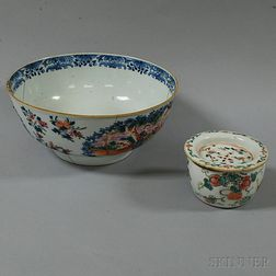 Two Enameled Ceramic Items