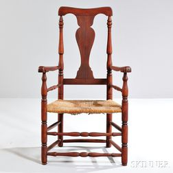 Red-stained Turned Armchair