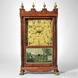 Samuel S. Grosch Mahogany Shelf Clock