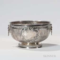 William III Sterling Silver Punch Bowl