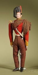 Papier-mache Scottish Highlander