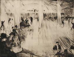 John Rankine Barclay (British, 1884-1962)      Paris Dance Hall.
