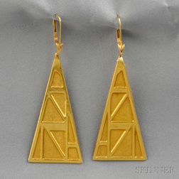 18kt Gold Earpendants, Lalaounis