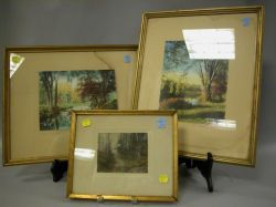 Two Framed Wallace Nutting Colored Photographs