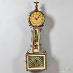 Mahogany Gilt Front Patent Timepiece or