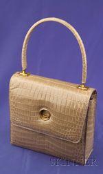 Beige Alligator Handbag, Charles Jourdan