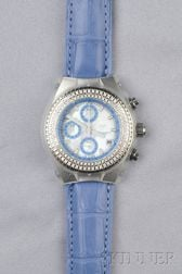 Stainless Steel and Diamond Wristwatch, Technomarine