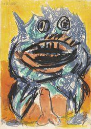 Karel Appel (Dutch, 1921-2006)      Image   for ONE CENT LIFE