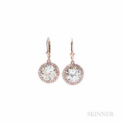 18kt Rose Gold and Diamond Earrings