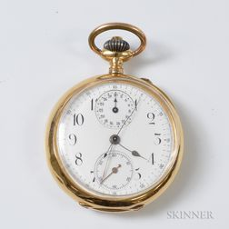 18kt Gold Open-face Pocket Watch