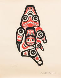 Two Contemporary Northwest Coast Bill Reid Prints