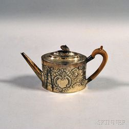George III Sterling Silver Repousse Teapot