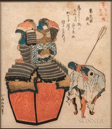 Katsushika Hokusai (1760-1849), Surimono   Woodblock Print