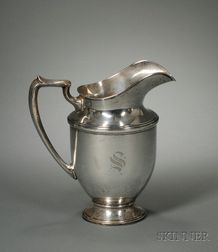 M. Fred Hirsch, Co. Sterling Silver Water Pitcher