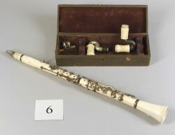 Rare Ivory Exhibition Clarinet, John Pfaff, Philadelphia, c. 1860