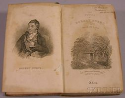 Decorative Leather-bound Title The Works of Robert Burns