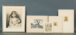 Lot of Four Prints:    Grace Arnold Albee (American, 1899-1985), A Peaceful Afternoon