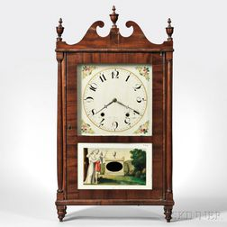 Pennsylvania Pillar and Scroll Clock