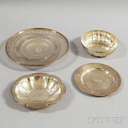 Four Sterling Silver Dishes