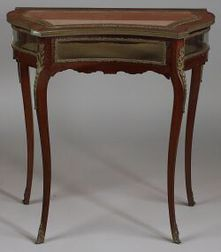 Louis XV Style Bronze Mounted Mahogany Vitrine Table