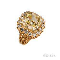 Colored Diamond Ring, Mounted by Cartier