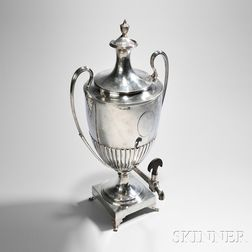 George III Sterling Silver Hot Water Urn