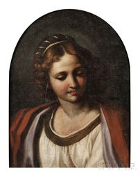 Italian School, Early 19th Century      Portrait Bust of a Young Lady in Contemplation