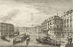 Michele Marieschi (Italian, 1696-1743)      Two Venetian Views:  Canale magnum usque ad Palatium Familice Michaelice...