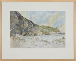 Gerard Blouin (Massachusetts, b. 1948), Below the Bluffs