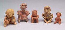 Five Pre-Columbian Pottery Figures