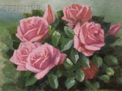 Mae Bennett Brown  (American, 1887-1973)      Bouquet of Pink Roses