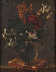Attributed to Bartolomeo Perez (Spanish 1634-1693)      Floral Still Life