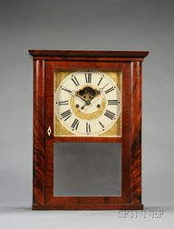 Mahogany Empire Shelf Clock by Eli Terry, Jr. & Company