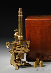 Brass Microscope by Baker