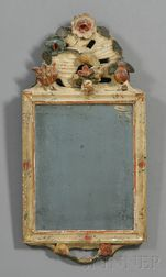 Gesso Polychrome and Gilt Carved Mirror