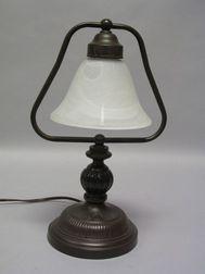 Bronze-finished Metal Desk Lamp.