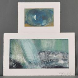 Sarah Brayer (b. 1957), Two Aquatint Etchings