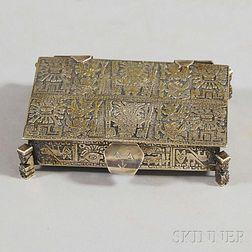 Peruvian .900 Silver Footed Box