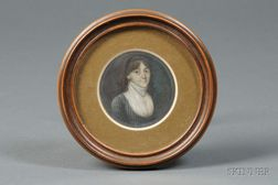 Probably Continental School, 19th Century      Portrait Miniature of a Young Woman.