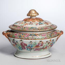 Export Porcelain Famille Rose Covered Tureen