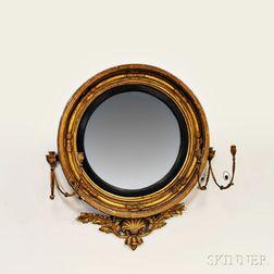 Regency Carved Gilt-gesso Girandole Mirror