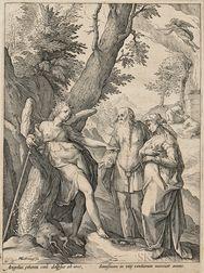 Hendrik Goltzius (Dutch, 1558-1617)      The Angel Announcing the Birth of Samson