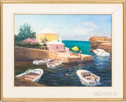 Two Framed Thomas Heinsohn (American, 20th/21st Century) Oil on Canvas Scenes of Cape Cod