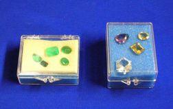 Nine Loose Faceted Gemstones.