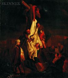 After Rembrandt Harmensz van Rijn (Dutch, 1606 - 1669)    Descent for the Cross