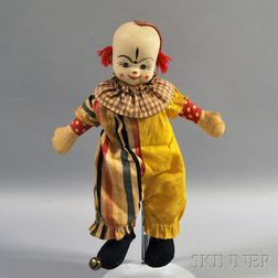 Rubber and Cloth Clown Doll