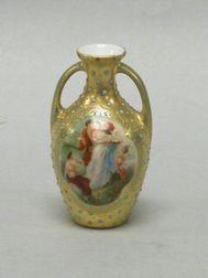 """Miniature Viennese-style """"Jeweled"""" Bud Vase"""