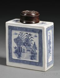 Blue and White Tea Caddy