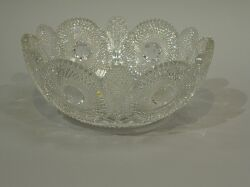 Brilliant Colorless Cut Glass Bowl.