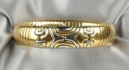 18kt Gold and Stainless Steel